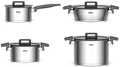 Woll ncset001 Concept 4 Piezas de cacerolas de Acero Inoxidable para ...