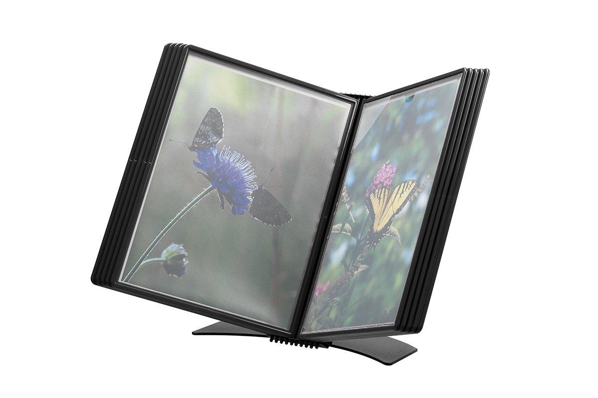 Jalema 7968419 Flex-o-Frame B/ürost/änder Premium inklusiv 10 Sichttaschen A4 schwarz