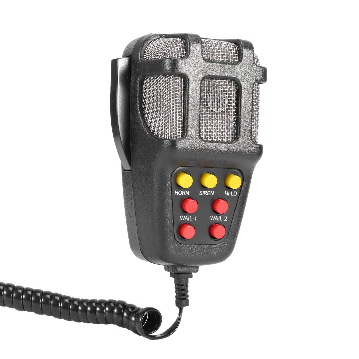 Lotenlli 100W Car Siren Horn Resistente 12V Allarme di avvertimento per veicoli 120db Altoparlante ad alta potenza Portatile Sirena per moto