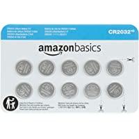 AmazonBasics Lithium CR2032 3V Batteries, 10-Pack