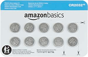 AmazonBasics CR2032 3 Volt Lithium Coin Cell Battery - 10 Pack
