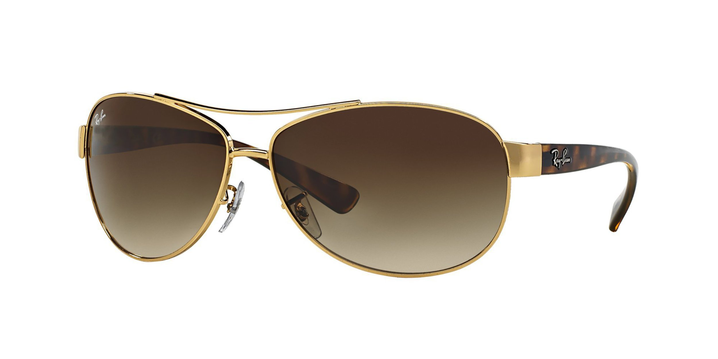 Ray-Ban Sunglasses - RB3386 / Frame: Gold Lens: Brown Gradient (63mm) by Ray-Ban