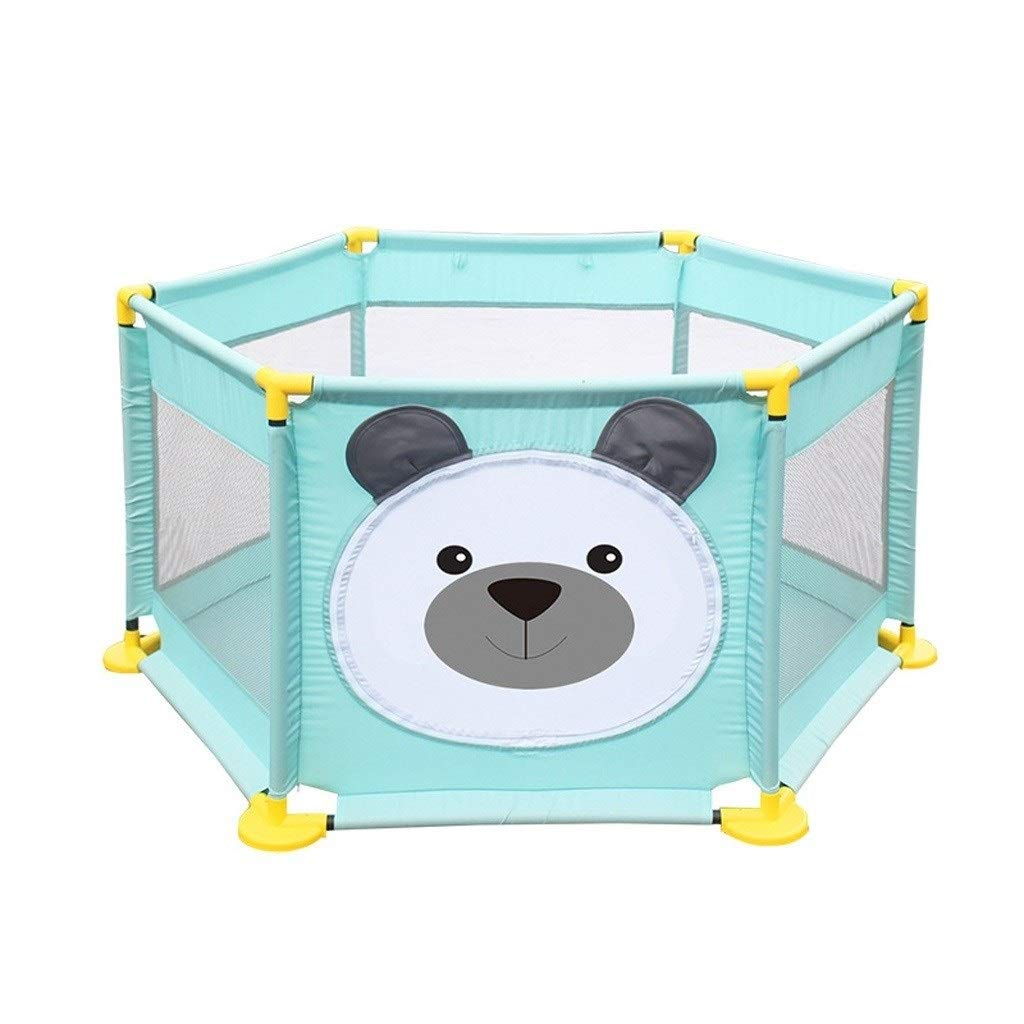 Baby playpen Playpen Playpen, Children's Plastic Safety Foldable Breathable Waterproof (Color : Blue, Size : 12812865cm) by LIL Baby playpen