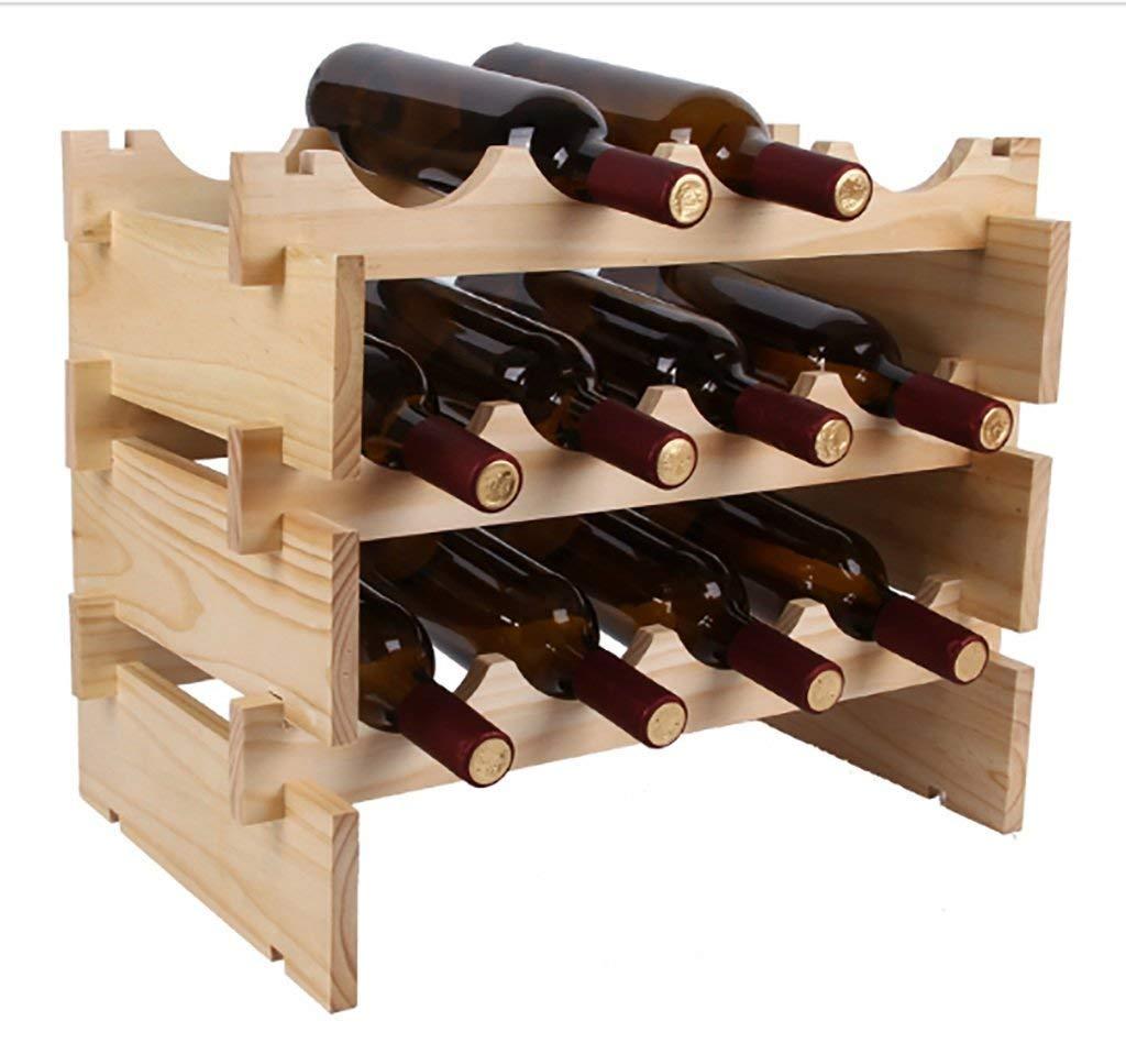 C Red Wine Shelf Hanging Wine Rack Wine Rack Wood superimposed Wine Bottle Shelf European Creative Home Decoration Display Creative Wine Rack (color   B) (color   D, Size   -) (color   C, Size   -)
