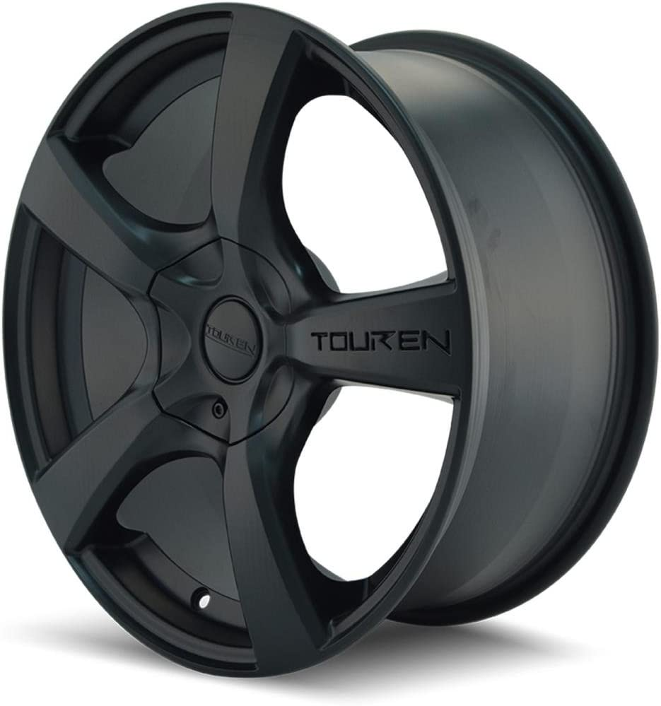 Rim 5x5 with a 42mm Offset and a 72.62 Hub Bore Partnumber 3190-7773MB Touren TR9 17 Black Wheel