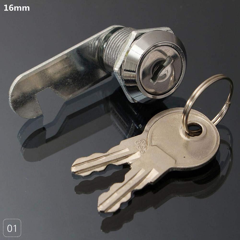 FANMURAN CAM Lock - Armario de Seguridad para Armario (cajó n, 2 Llaves, 16/20/25/30 mm)