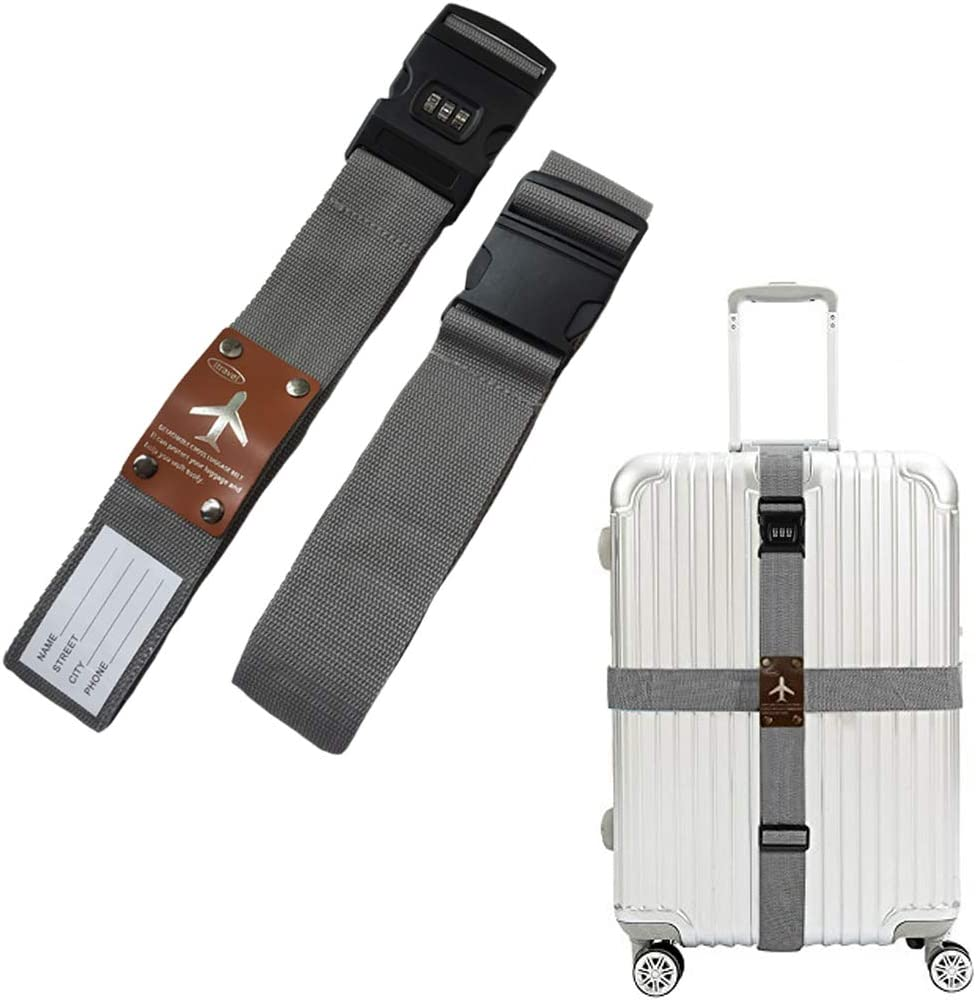 Arc en Ciel Hey~Yo Sangle /à Bagage,Adjustable D/étachable Cross Suitcase Ceintures,Accessoires de Voyage Sangles de Sac Ceintures de Bagages Ceinture demballage Sangles de S/écurit/é