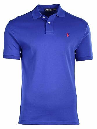 Polo Ralph Lauren Men's Classic Fit Interlock Polo Shirt-Royal Blue-Small