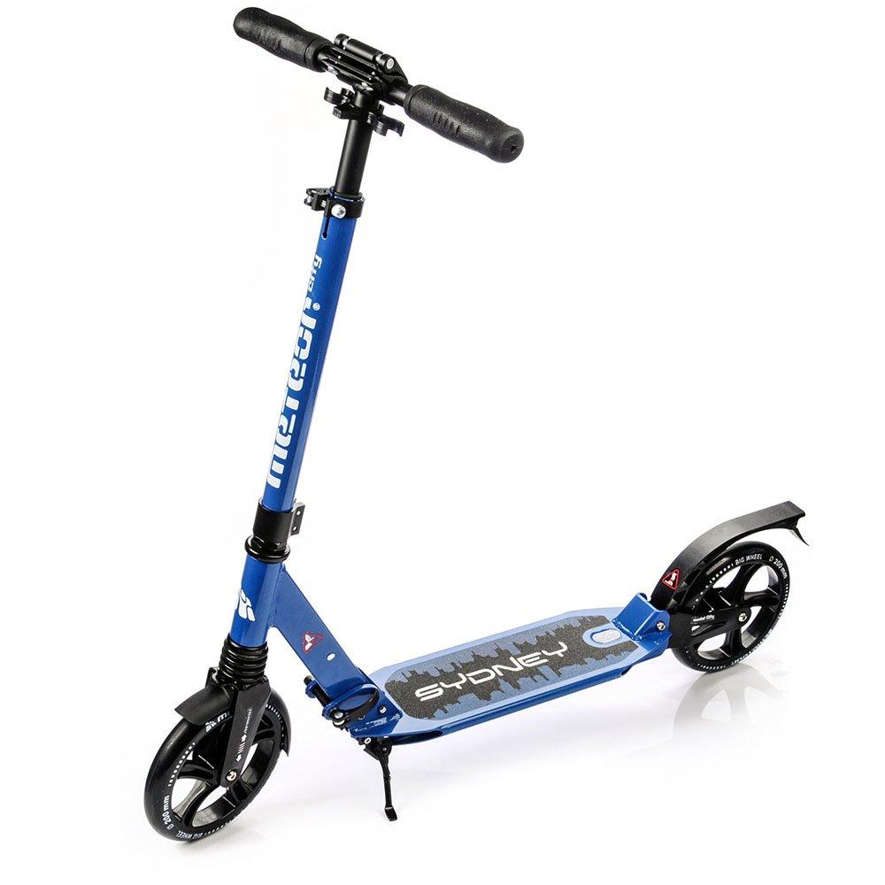 Scooter plegable ruedas grandes 200 mm patinete Niños y Adultos Muy Duradera - hasta 100 kg Patinete de aluminio de alta calidad dos amortiguadores SYDNEY markArtur