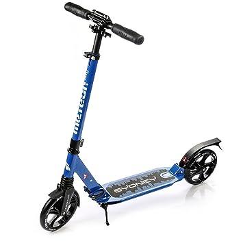 Scooter plegable ruedas grandes 200 mm patinete Niños y Adultos Muy Duradera - hasta 100 kg