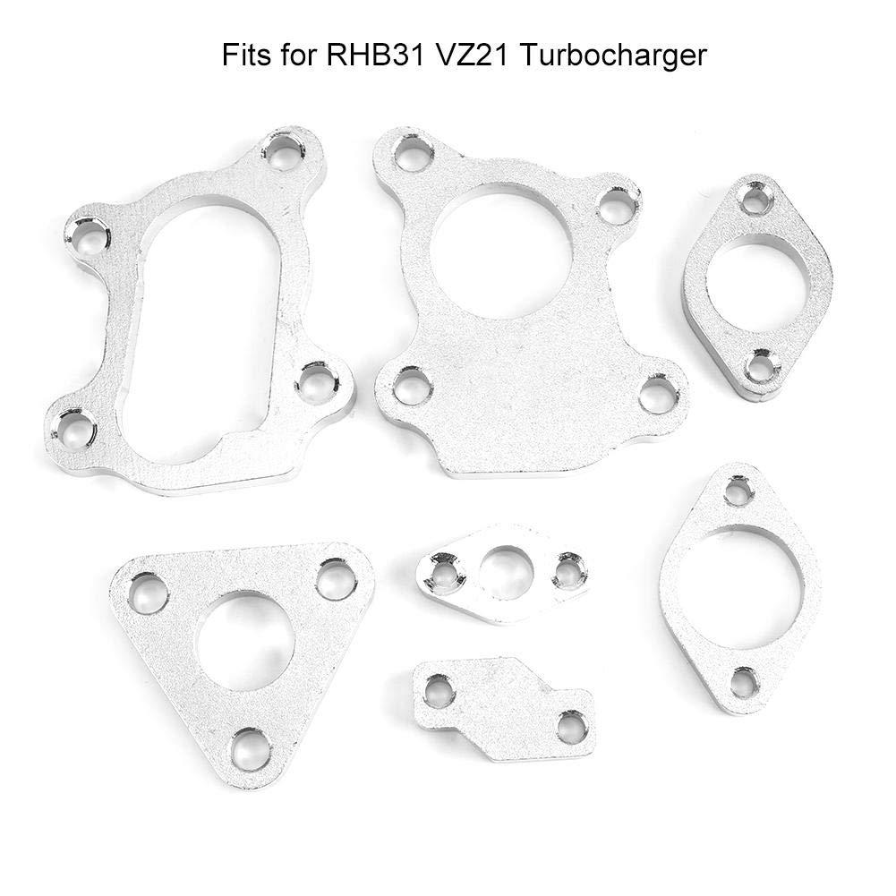 KIMISS 7Pcs Turbocharge Turbo Flanges Complete Set Fits for RHB31 VZ21