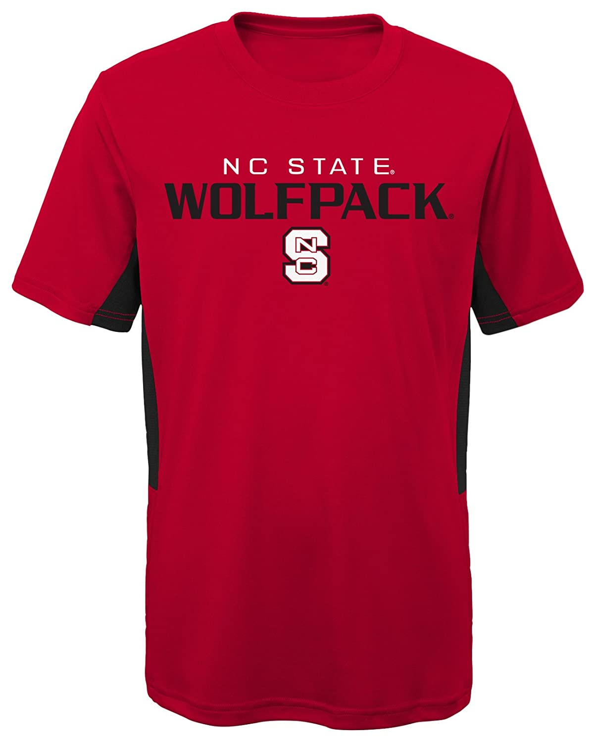 Youth Large NCAA by Outerstuff NCAA North Carolina State Wolfpack Youth Boys Mainframe: Short Sleeve Performance Top Dark Red 14-16