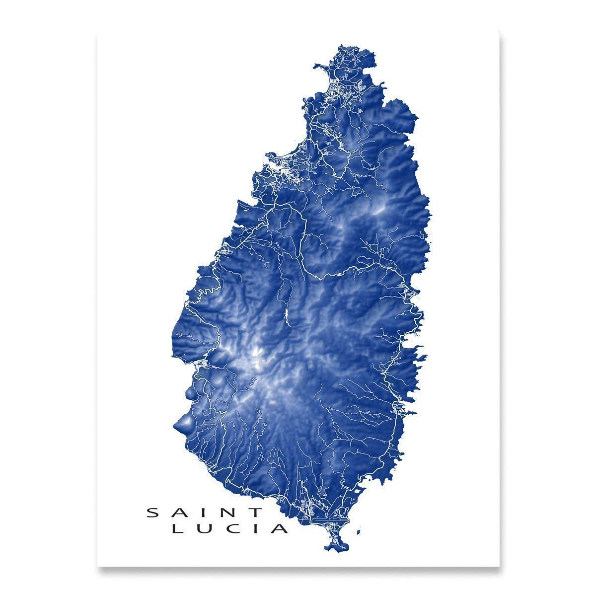 Amazon.com: Saint Lucia Map Art Print, St Lucia, Caribbean ... on st. lucia la toc map, british virgin islands, st. lucia country map, costa rica map, santa lucia island on map, turks and caicos islands, suriname map, world map, hotels st. lucia fl map, caribbean map, mexico map, st. lucia flag map, cayman islands, st. lucia climate map, bhutan map, st. lucia political map, antigua and barbuda, st. lucia island resorts map, st lucia satellite map, barbados map, the bahamas, vigie beach map, trinidad and tobago, serbia map, sri lanka map, saint kitts and nevis, belize map,