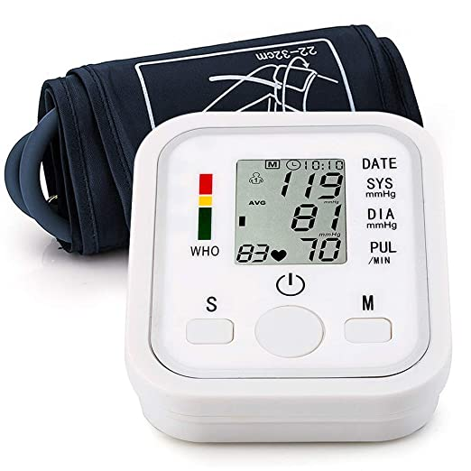 Amazon.com: Automatic Arm Blood Pressure Monitor Voice Broadcast High Blood Pressure Monitors Portable LCD Screen Irregular Heartbeat Monitor with ...