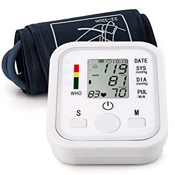Automatic Arm Blood Pressure Monitor Voice Broadcast High Blood Pressure Monitors Portable LCD Screen Irregular Heartbeat