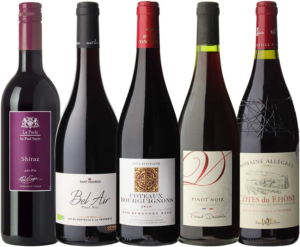 金賞ワインてんこ盛り 超コスパ フランス赤ワイン5本セット