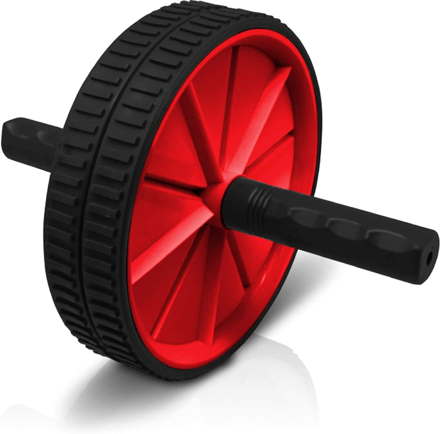 Valk Lightweight Gym Portable Abdominal Roller Wheel for Core Strength Exercise red