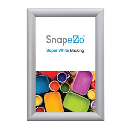 b94a54632260 Amazon.com - SnapeZo Silver Poster Frame 13x21 Inches