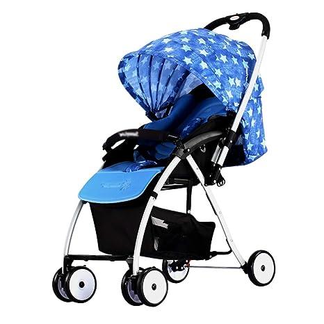 Carritos y sillas de Paseo Cochecito de bebé, luz Plegable ...