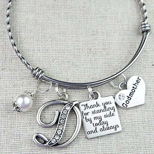 Godmother Wedding Gift: Amazon.com: GODMOTHER Gift, Personalized Godmother Bangle