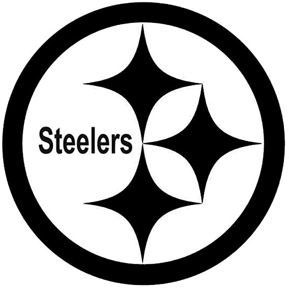 Amazon Com White Pittsburg Steelers Logo Decal Window New Sticker Automotive
