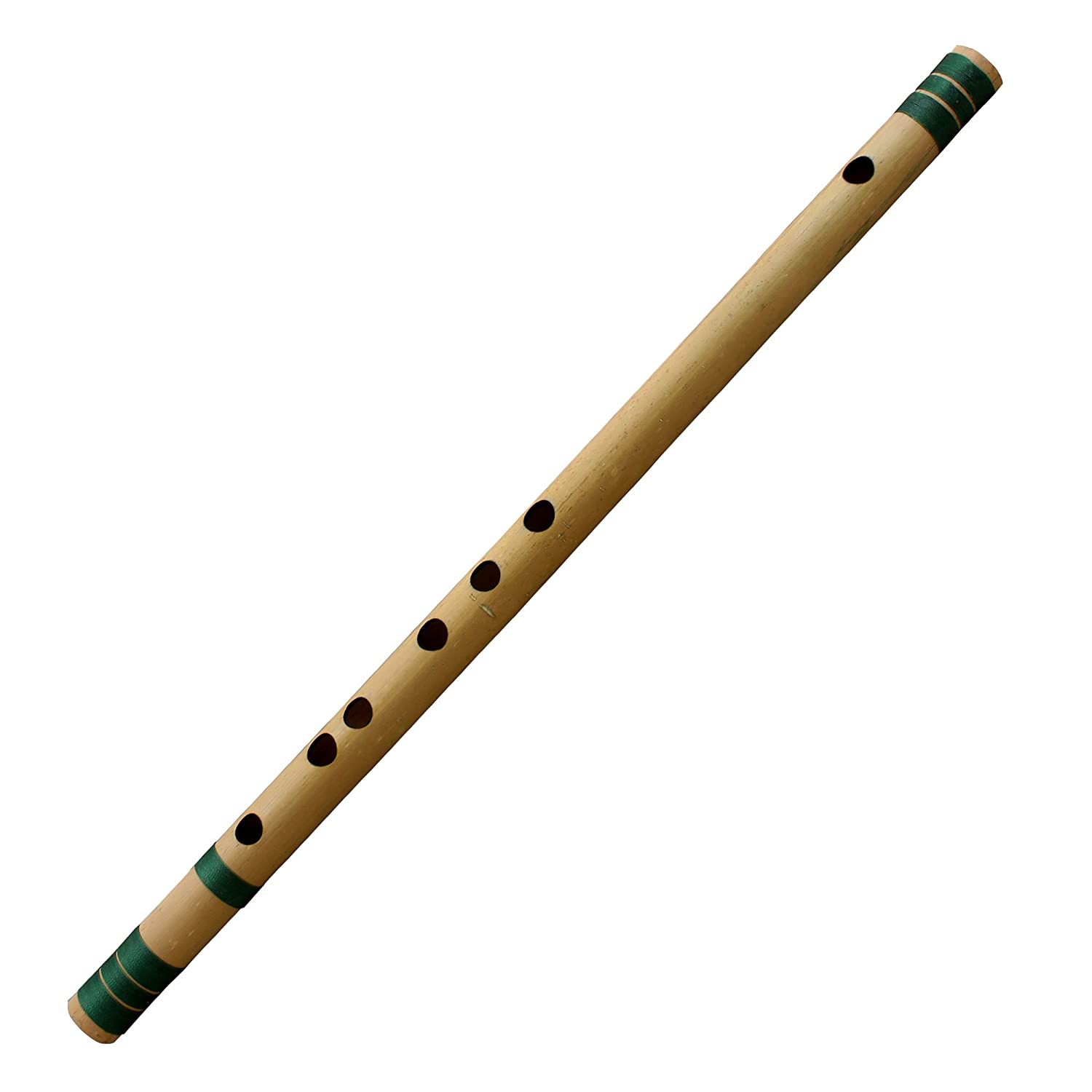 Indian Bansuri Flute Bamboo Transverse, Key-C#, 18 Inches Long - Professional Woodwind Musical Instruments RoyaltyRoute RRN-bansuri006