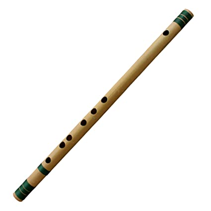 Royaltyroute Bamboo Flute Indian Basuri For Professional With Carry Case (C  # Tune) Woodwind Musical Instrument Length 46 cm