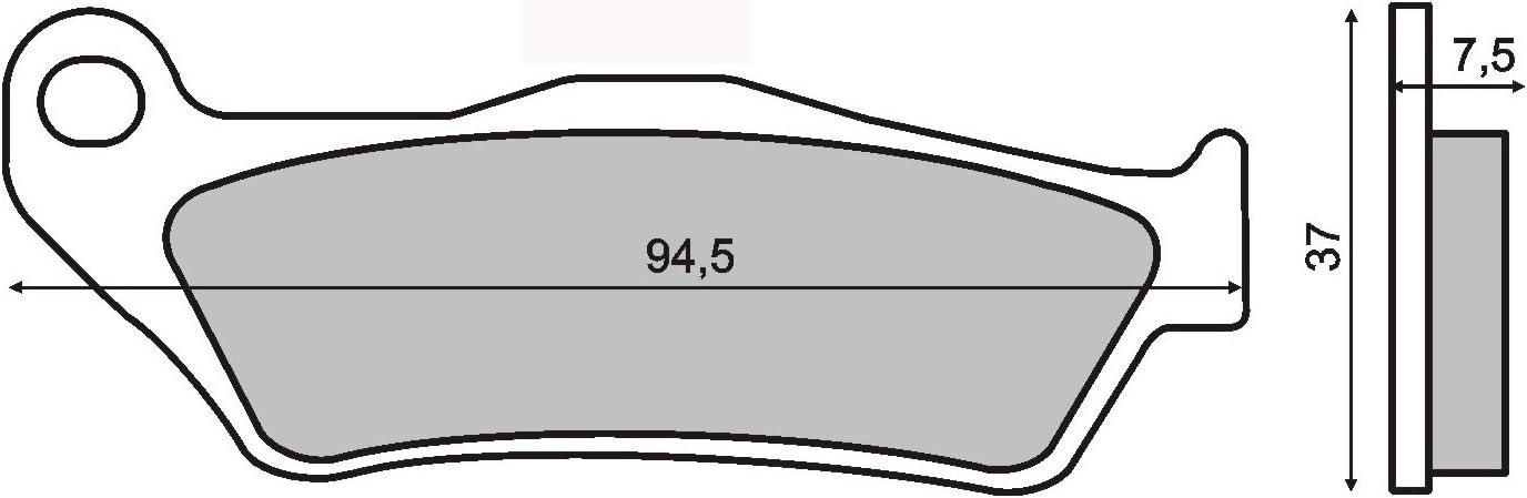 pastillas de freno Organica delantero compatible con GILERA Nexus 500 2004-2004