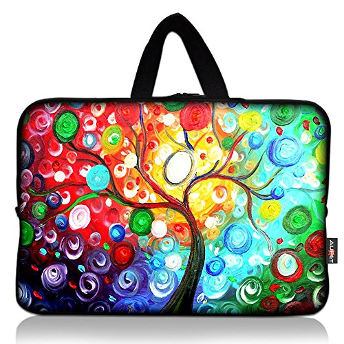 AUPET Colorful Tree Universal 7 ~ 8 inch Tablet Portable Neoprene Zipper Carrying Sleeve Case Bag