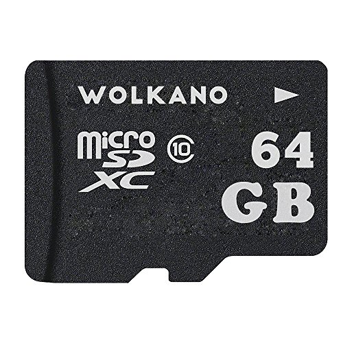 Wolkano 64GB MicroMiniSD Card Class 10 Memory Card 64gb with Adapter (64gb)