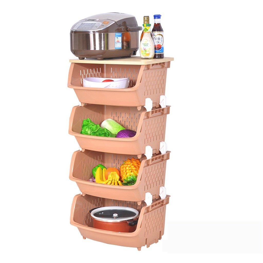 CHS@ キッチンラックのカバーで、より厚いポットボウルの野菜棚を置くことができます (色 : ブラウン ぶらうん) B07RQKQ759 ブラウン ぶらうん