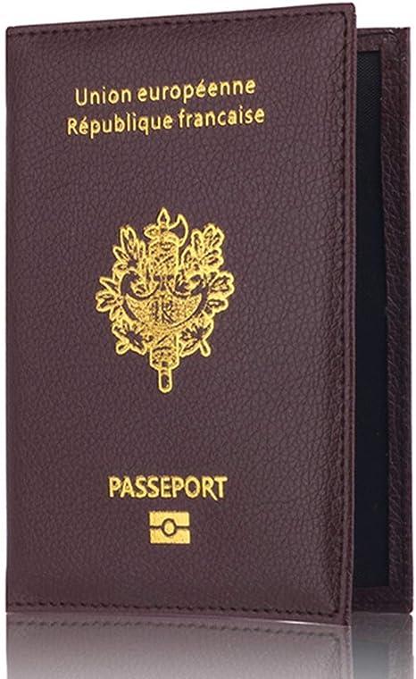 Passeport Unisexe PU Couvre Porte-Passeport en Cuir Couverture RFID Cas De Blocage Wallet Voyage pour Femme Homme