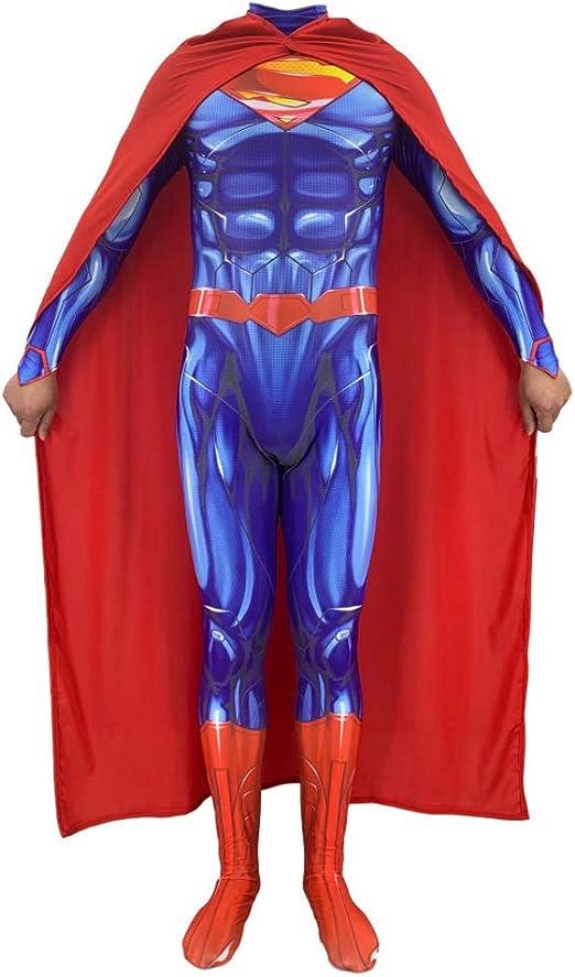 BGHKFF Superman Disfraz NiñO Adulto Superhéroe Ropa Cosplay ...