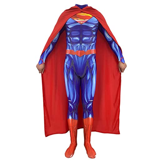 BGHKFF Superman Disfraz NiñO Adulto Superhéroe Ropa Cosplay ...