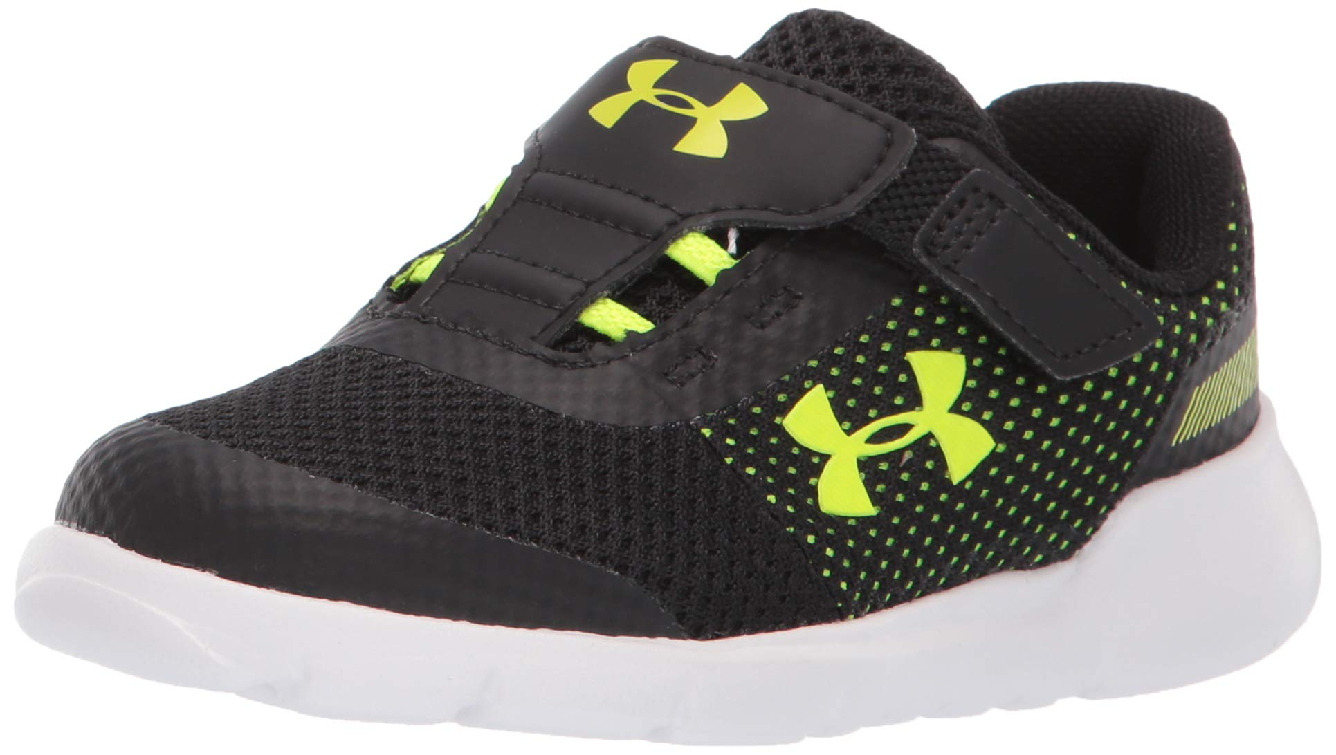 Under Armour Boys' Infant RN6 Sneaker, Black (002)/White, 10K by Under Armour