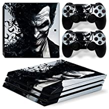 Ps4 PRO Playstation 4 Console Skin Decal Sticker The Joker + 2 Controller Skins Set (PRO Only)
