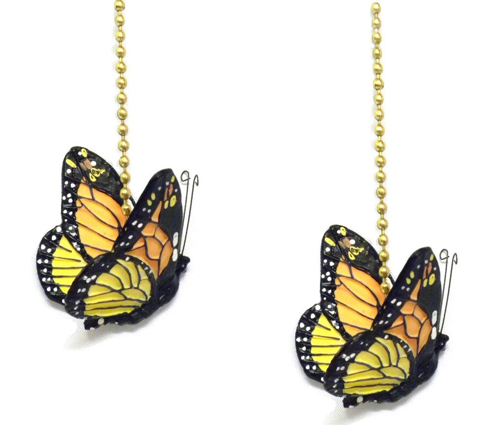 WeeZ Industries - Monarch Butterfly Ceiling Fan Pull Chain Extension Ornament 6''L (2) by WeeZ Industries