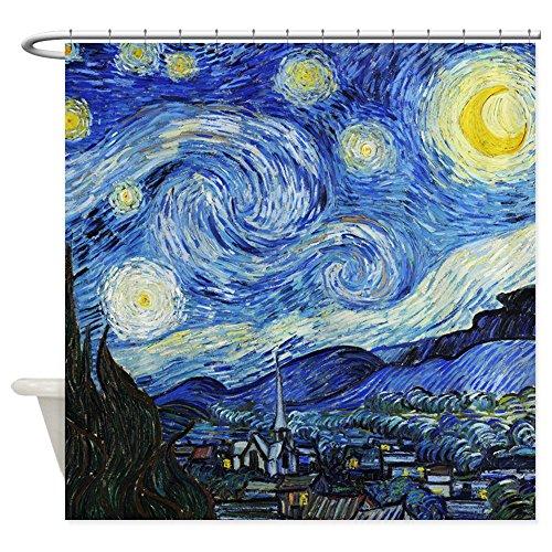 CafePress - Van Gogh - Starry Night Shower Curtain - Decorative Fabric Shower Curtain ()