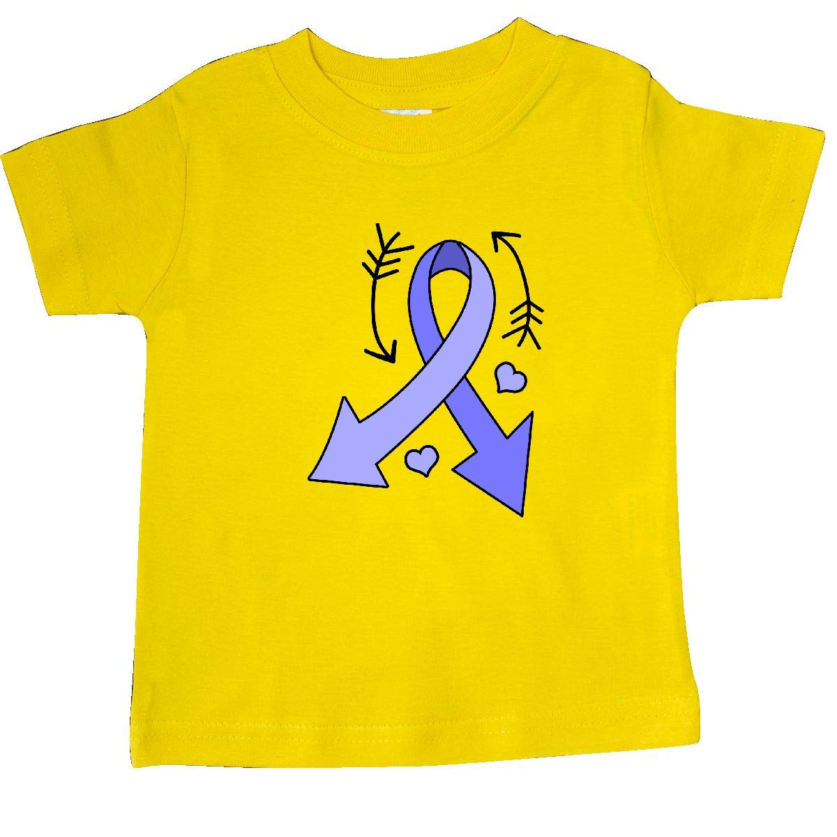 inktastic Periwinkle Ribbon with Arrows for Stomach Cancer Baby T-Shirt