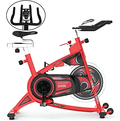 pooboo Belt Drive Exercise Bikes 40lbs Flywheel Indoor Cycling Bike with LCD Monitor Home Cardio Workout Stationary Bike
