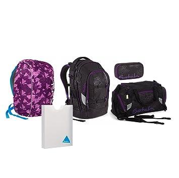 7220f58c870ff Satch Pack Purple Hibiscus Schulrucksack Set 5tlg.  Amazon.de ...