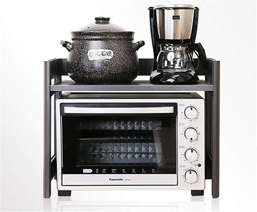 WEMUR Estante de cocina estante de microondas de aleación de ...