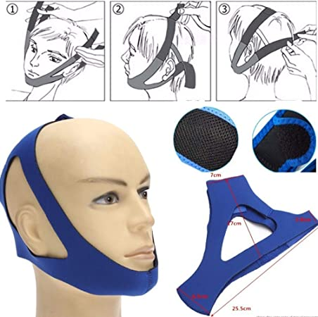 1Pcs Adjustable Stop Snoring Jaw Strap Support Mouth Breathing Strap Anti Snoring Chin Strap for Men Women Blue: Amazon.com.au: Health & Personal Care