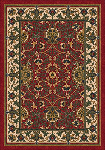 (Pastiche Sumero Indian Red Oval Rug Size: Oval 3'10