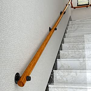 Amazon.com: DLT Wood Staircase Handrail Wall Mounted Hand ...