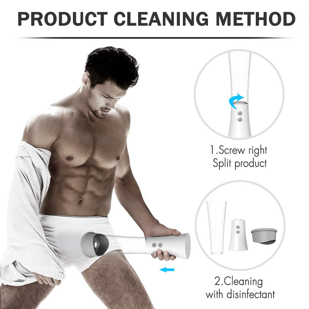 Powerful Pump for Man Training Body Automatic Massager Kit Stronger Suction Funny Frequency