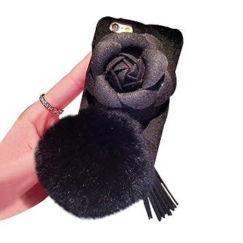 Duanmei Carcasa para Apple iPhone X 8 7 6S Plus, diseño de flor ...