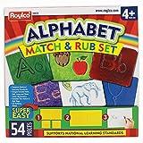 Roylco Alphabet Match & Rub Set Rubbing Plates