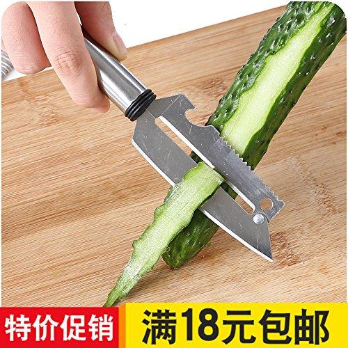 XXAICW Couteau à éplucher inox multifonctions B717 Râpe à Pelé fruits et Couteau éplucheur à fruit fruits éplucheur