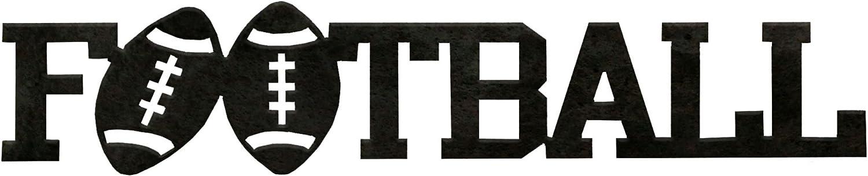 7055 Inc Football Word Metal Wall Sign, Hammered Black